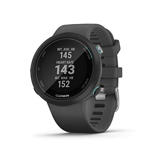 Garmin Swim 2, GPS Swimming Smartwatch for Pool and Open Water, Underwater Heart Rate, Records Distance, Pace, Stroke Count and Type, Slate Gray