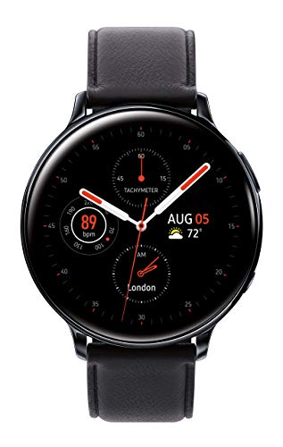Samsung Galaxy Watch Active 2 (44MM, GPS, Bluetooth, Unlocked LTE) Smart Watch with Advanced Health Monitoring, Fitness Tracking , and Long Lasting Battery - Aqua Black - (US Version)