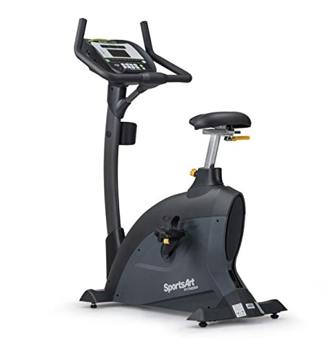 IRON COMPANY SportsArt Fitness C535U Foundation Series Upright Cycle - Self Powered - Residential and Light Commercial Upright Exercise Bike