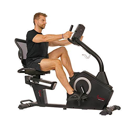 Sunny Health & Fitness Programmable Recumbent Bike - SF-RB4850