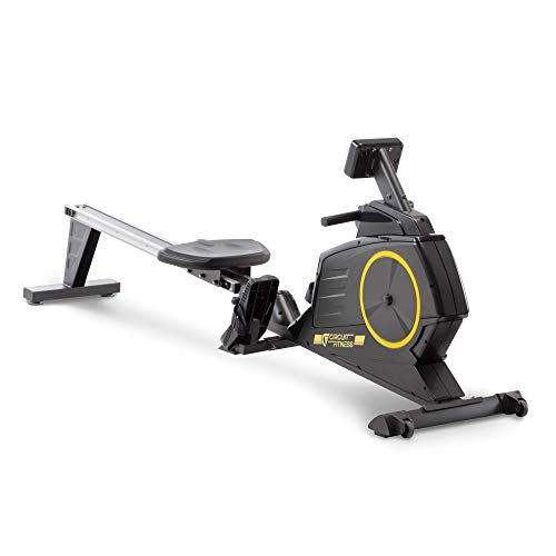 Circuit Fitness Deluxe Foldable Magnetic Rowing Machine with 8 Resistance Settings and LCD Monitor