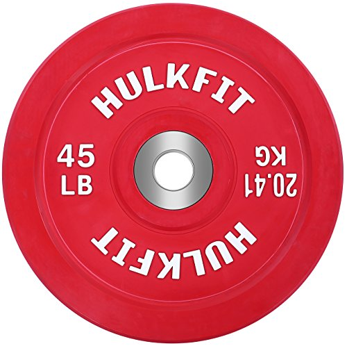 HulkFit color-coded Olympic bumper plates