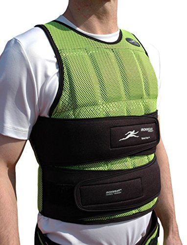 Ironwear Speed-Vest (Long) Soft Flex-Metal Weights, Made in USA,Breathable 1-17 Lb. Athlete Training Weighted Vest