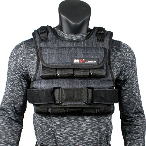 miR Air Flow Adjustable Weighted Vest, 30 lb